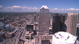 HD2008-7-9-42b aerial DT Cgy Stock Video Footage