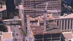 HD2008-7-9-44 aerial DT Cgy crane Stock Video Footage