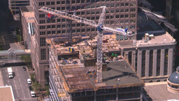 HD2008-7-9-48 aerial DT Cgy crane Stock Video Footage
