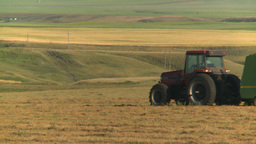 HD2008-7-14-38 tractor harvesting Stock Video Footage