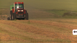 HD2008-7-14-42 tractor harvesting Stock Video Footage