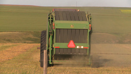 HD2008-7-14-44 tractor harvesting Stock Video Footage
