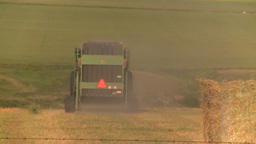 HD2008-7-14-46 tractor harvesting Z Stock Video Footage