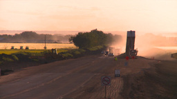 HD2008-7-14-54 dusty road construction Stock Video Footage