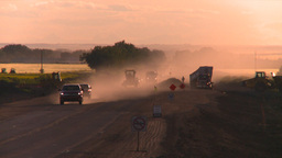 HD2008-7-14-56 dusty road construction Stock Video Footage