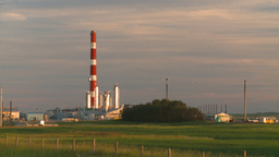 HD2008-7-14-64 gas plant evening sunset Stock Video Footage