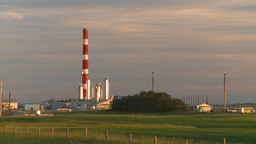 HD2008-7-14-64 gas plant evening sunset Footage