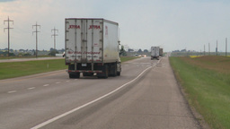 HD2008-7-15-3 transport trucks highway Footage