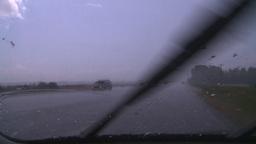 HD2008-7-15-5 hailstorm thru car window Footage