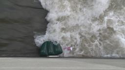 HD2008-7-15-35 weir debris Stock Video Footage