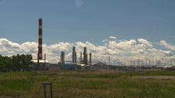 HD2008-7-15-37 gas plant Stock Video Footage
