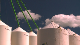 HD2008-7-16-9 fertilizer storage Stock Video Footage