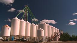 HD2008-7-16-9 fertilizer storage Stock Video Footage