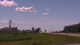 HD2008-7-16-13 small town truck highway Stock Video Footage
