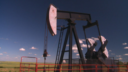 HD2008-7-16-25 pumpjack Stock Video Footage