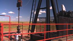 HD2008-7-16-27 pumpjack Stock Video Footage