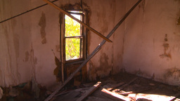 HD2008-7-16-49 interior abandoned farm house Footage