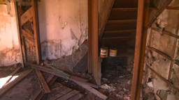 HD2008-7-16-49 interior abandoned farm house Stock Video Footage
