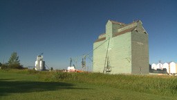 HD2008-7-16-65 old wood grain elevators Footage