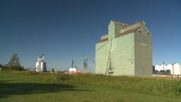 HD2008-7-16-65 old wood grain elevators Stock Video Footage