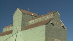 HD2008-7-16-67 old wood grain elevators Stock Video Footage