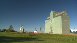 HD2008-7-16-69 old wood grain elevators Stock Video Footage