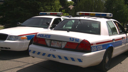 HD2008-7-17-5 cgy police cars Stock Video Footage