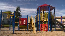 HD2008-7-17-11 empty kids playground Stock Video Footage