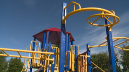 HD2008-7-17-13 empty kids playground Stock Video Footage