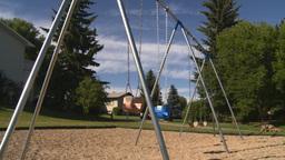 HD2008-7-17-15 empty kids playground swingset Footage