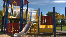 HD2008-7-17-19 empty kids playground Stock Video Footage