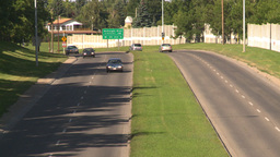 HD2008-7-17-21 blvd traffic Stock Video Footage