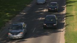 HD2008-7-17-23 blvd traffic Stock Video Footage