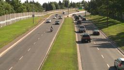 HD2008-7-17-27 blvd traffic drunkcam Stock Video Footage