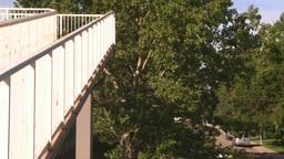 HD2008-7-17-31 walkway overpass Stock Video Footage