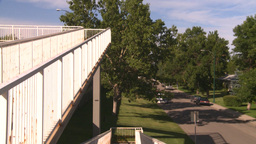 HD2008-7-17-31 walkway overpass Stock Video Footage