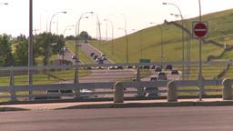 HD2008-7-17-33 blvd traffic and bridge Stock Video Footage