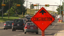 HD2008-7-17-41 construction street traffic Stock Video Footage