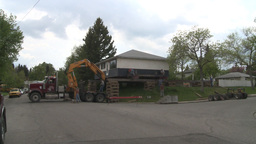 HD2008-6-1-4 House move Stock Video Footage