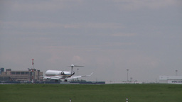 HD2008-6-1-18 jet landing Stock Video Footage