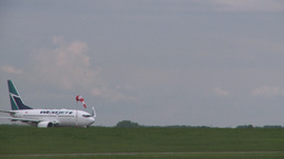 HD2008-6-1-26 B737 taxi Stock Video Footage