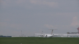 HD2008-6-1-30 Dash8 takeoff Stock Video Footage