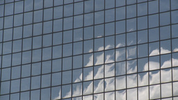 HD2008-6-1-36 TL mirror bdg cloud reflections Stock Video Footage