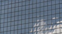 HD2008-6-1-36 TL mirror bdg cloud reflections Footage