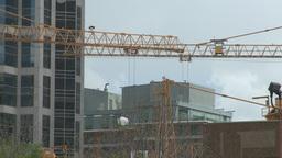 HD2008-6-1-40 construction cranes Stock Video Footage