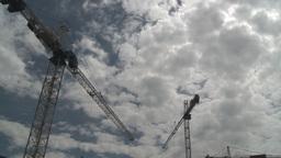 HD2008-6-1-42 construction cranes Stock Video Footage