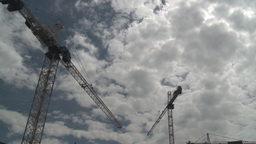 HD2008-6-1-42 construction cranes Footage