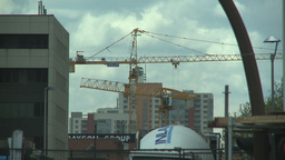HD2008-6-1-44 construction cranes cement truck Footage