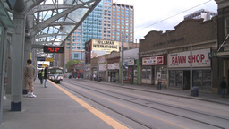 HD2008-6-2-12 LRT train Stock Video Footage