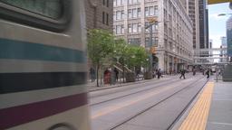 HD2008-6-2-16 LRT train Stock Video Footage